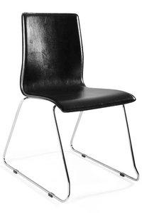 Design stoel Cuoio, Zwart