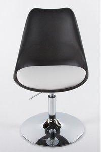 Retro design stoel draaibaar, Zwart/Wit