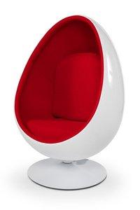 Design Fauteuil Rood.Design Cocoon Chair Wit Rood Eigenwijs Design