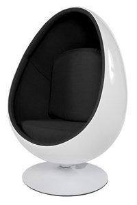 Design Cocoon chair Wit Zwart