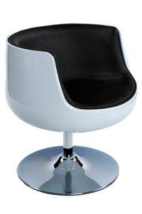 Design fauteuil Cuba Wit Zwart