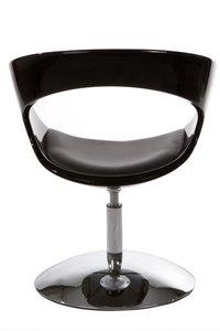 Ronde design fauteuil, Zwart