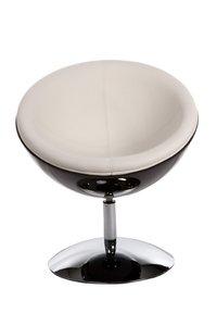 Ronde design fauteuil Cupido, Zwart/Wit
