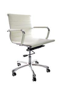 Bureau stoel Retro laag wit