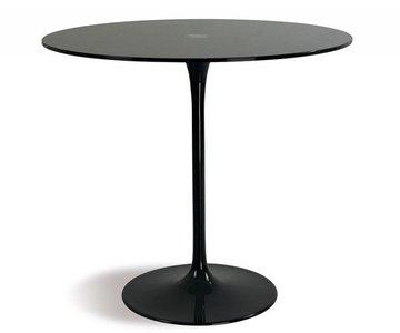 Saarinen Tulip tafel 90 cm zwart outdoor