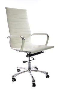 Bureau stoel Retro wit hoog