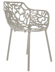 Cast Magnolia outdoor stoel met armleuning  TAUPE