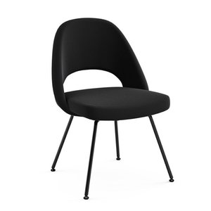 Saarinen Executive Armless Chair Tubular Legs Black