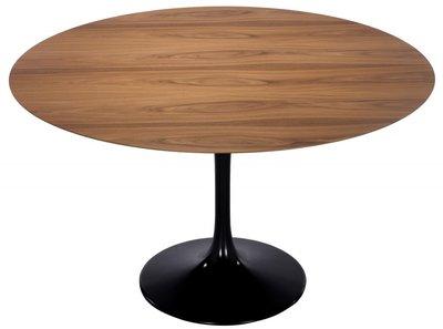 Tulip tafel 120 cm noten houtfineer