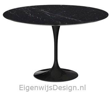 137 cm Tulip tafel zwart marmeren blad