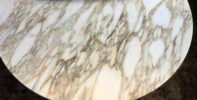 Tulip tafel 137cm Calacatta Gold marmer Saarinen