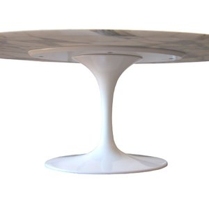 ovale tulip tafel 169x111 carrara marble