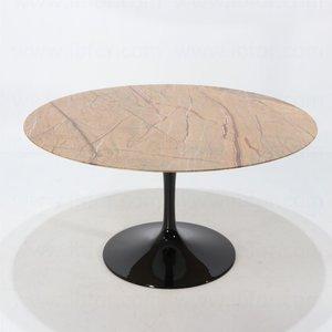 Showroom aanbieding: Ronde Saarinen Tulip tafel 107cm Forest Gold marmer
