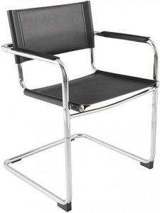Bauhaus Look Stoelen.Buisframe Slede Stoel Comfortabele Vergader En Eetkamerstoel