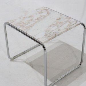 Bauhaus bijzettafel Breuer - marmeren blad