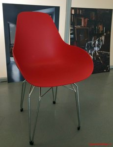 Afgeprijsd: Kubikoff dimple diamond chair rood
