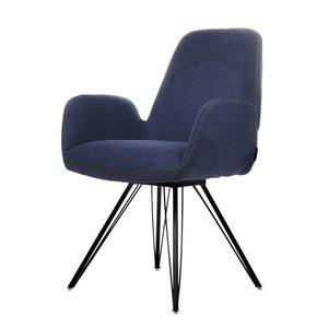 Eetkamer stoel Babs - donker blauw HQ